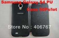 Wholesale Freeshiping Hot Sale PU Leather Flip Case For Samsung S4 I9500 Best Quality With Retail Package 50PCS/lot