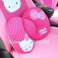 U1 wholesale cute hello kitty cushion / car rest waist pillow ,1pc