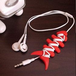 free shipping Small fish bone earphones cable winder mp3 mp4 earphones mouse wire harness(China (Mainland))