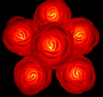 Red rose wedding rose valentine rose gift red led small night light