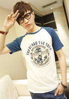 2013 male short-sleeve T-shirt male short-sleeve cotton t-shirt men's t-shirt short-sleeve o-neck short-sleeve