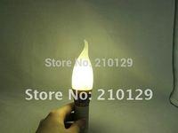 Free shipping! 5pcs/lot 3*3W LED Light Candle Bulb 9W Crystalline Light Warm White And White E27/E14 ivory  lamp housing
