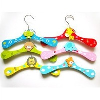 20pcs/lot  Freeshipping! wood Wooden children cartoon animal clothes hangers/Clothes tree/coat hanger, clothes rack,