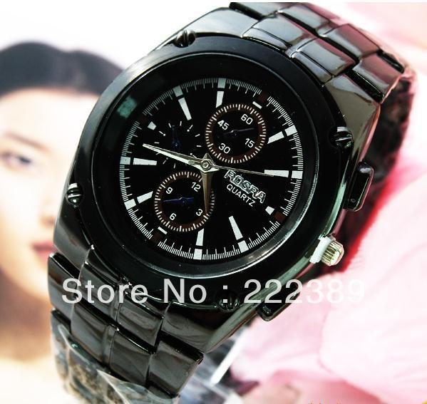 Free shipping 2013Personalized black men fashion strip watch manufacturers of primary sources 136775(China (Mainland))