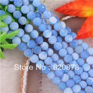 "Wholesale 8mm Dream Fire Dragon Veins Agate Loose Beads 15""Fashion jewelry 2pc/lot(China (Mainland))"