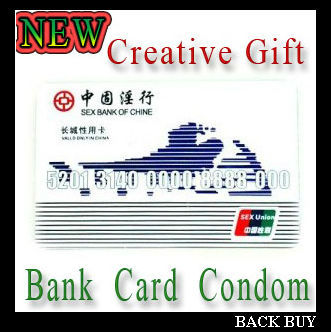 FREE SHIPPING 2013 New Created Gift Bank Card Condoms For Men, Trick Toys Sex Condoms,20pcs/lot,Standard Size BB162(China (Mainland))