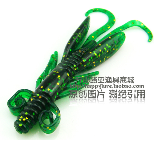 Free Shipping Lure soft bait soft fish soft shrimp 105mm 5.2g 10 bag(China (Mainland))