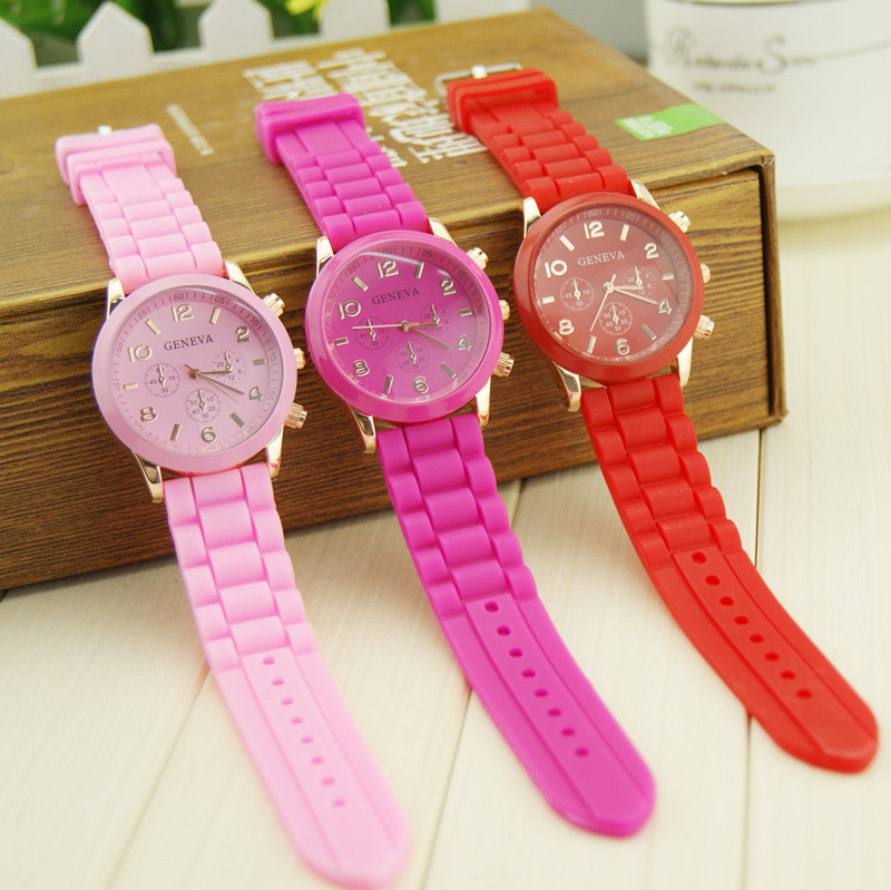 Harajuku ice cream candy neon color watch fashion super soft watchband watch(China (Mainland))