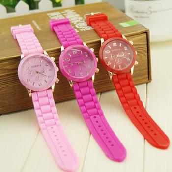 Harajuku ice cream candy neon color watch fashion super soft watchband watch