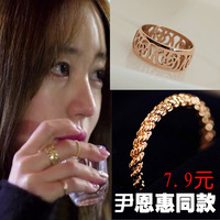 Accessories yeh twisted ring pinky ring female finger ring crystal vintage