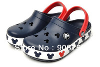 Free shipping Mickey Crocband Navy Blue Kids Unisex Summer Shoes Sandals Slippers US C6/7-C12-13