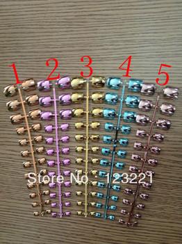 New Design Metallic Acrylic False Toe Nail Tips 10 Colors For Your Choose + 24 pcs /set +Free Shipping