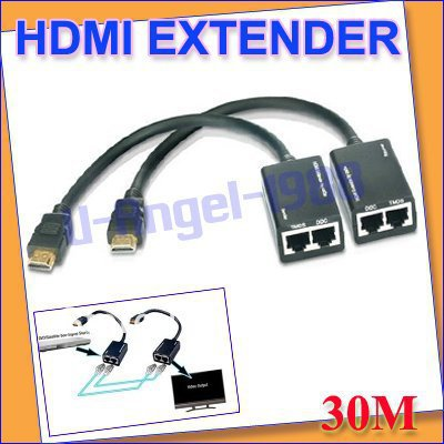 FREE FEDEX.HDMI EXTENDER 30M 1080P Cat5e cat6 Lan cable 3D 1080p+free shipping(China (Mainland))