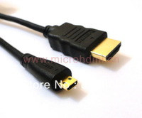 HD-025-1.2M 4ftMicro HDMI D Type to HDMI M/M Cable for Motorola XT800 Droid X Blackberry Playbook Acer Iconia Tab deaPad K1 A100