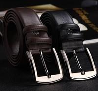 Free shipping Men's fashion cowhide genuine leather brief belt male strap Ceinture Buckle birthday gift MD6