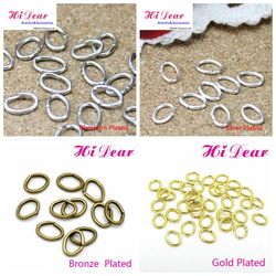 A Box/240s 4*5mm Oval Metal Open Jump Rings Gold/silver/rhodium/bronze Plated Jewelry Link/Key Chains DIY Findings/Connectors(China (Mainland))