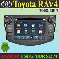 Android  Car DVD Player navi autoradio GPS Toyota RAV4 2008 - 2012  +3G WIFI + V-20 Disc + 1GB cpu+ DDR 512M RAM + A8 Chipset