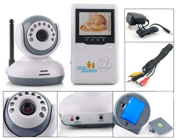 "2.5""LCD Digital Baby Monitor 2.4G Wireless Video Camera Voice Control 300M(China (Mainland))"