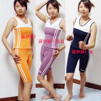 Sports set fitness clothing fitness clothing aerobics clothing callisthenics tight stretch cotton female