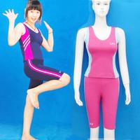 Dance performance wear callisthenics set fitness sportswear tight-fitting vest 5 pants female
