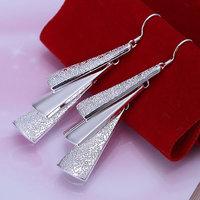 925 silver earrings 925 sterling silver fashion jewelry earrings beautiful earrings high quality Triple Pieces Earrings