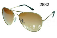 Wholesale Classic brand RB 3025 Fashion womens mens metal sunglasses designer eyewear sports glasses 10cols free shipping pilot