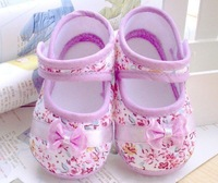 Retail free shipping 2013 Fashion girls bow flowers Baby toddler shoes 11cm-13cm spring and autumn children footwear