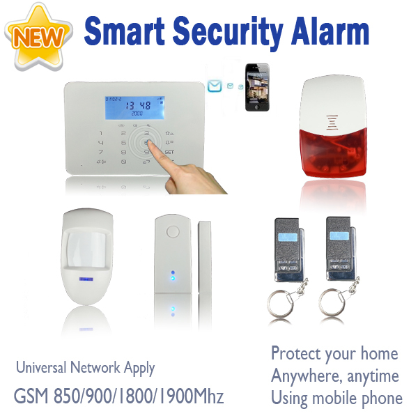 2013 New Touch GSM Security Alarm Systems + Touch Panel + LCD Display + Quad Band Auto Dial Chuango G5 Style SG-213(China (Mainland))