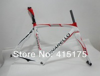 Free shipping 2013 Pinarello Dogma 65.1 Prince of new carbon fiber bicycleFrame+Fork+Headset+seatpost+clamp White and red