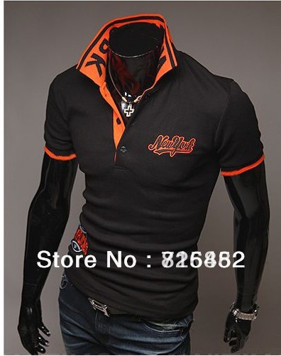 Free Shipping 2013 New Mens Top Brand NY Polo T shirts Mens Casual Stylish Short Sleeve Cotton Shirts M~XXL x-206(China (Mainland))