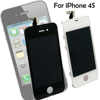 Free Shipping by DHL EMS UPS Fedex,10ocs/lot,Replacement For iPhone 4s GSM Touch Screen LCD Digitizer Assembly  white