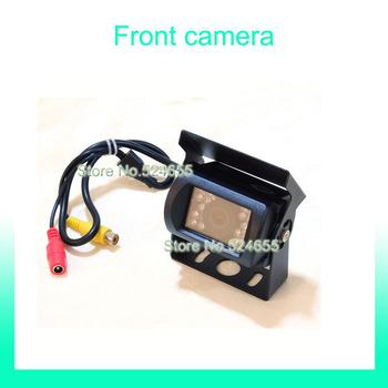 Front car camera Free shipping 12V~24V bus car camera truck Rear view back up hd car camera  parking camera mini