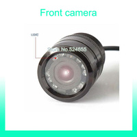 Front car camera Parking Assistance 28mm car camera night vision 120 degree Rear view back up ccd hd camera Free shipping