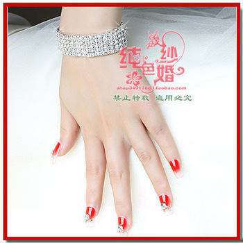 All-match bride nail art false nail patch syncronisation glue diamond 24 3d