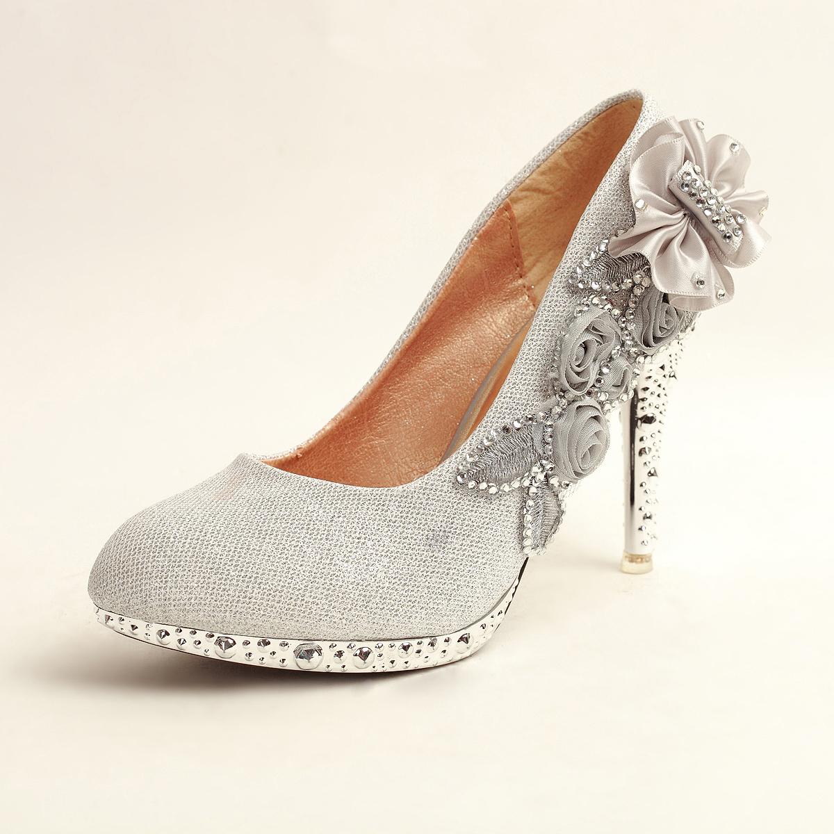 Cheap Silver Pumps Heels