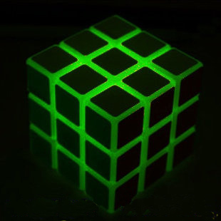 On Sale1 Luminous three order magic cube game magic cube fully enclosed leugth  with Free Shipping