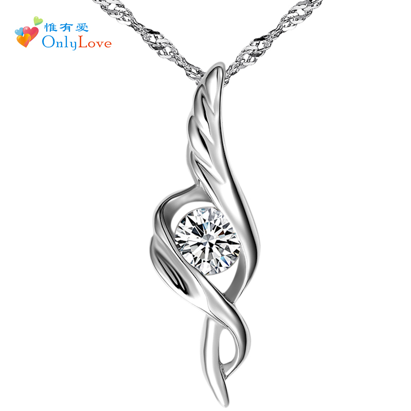 Silver jewelry 925 women&#39;s pure silver necklace chain silver bride necklace pendant accessories birthday gift(China (Mainland))