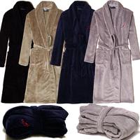 Luxury male coral fleece sleepwear male bathrobe male robe male lounge autumn and winter