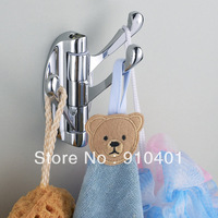 Free Shipping Wholesale / Retail  NEW Bathroom kitchen accessories bathroom hook rotary clothes hook 3 clothes hook hat rack