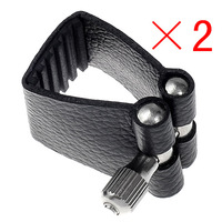 freeshipping 2*Black professional Mouthpiece leather ligature For Bb Clarinet,clarinet parts