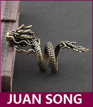 Dragon ring alternative style dragon ring men's punk wind for men c535(China (Mainland))