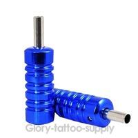 Free Shipping!Tattoo & Body Art New Round Blue Aluminium Alloy Grip Tube Supply Tattoo Machine