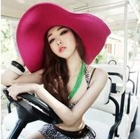 HOT Style freeshipping adult women girls fashion big sun hat summer beach hat Accessories