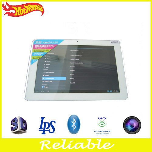"New product 10.1"" android4.1 os dual core very cheap gps tablet pc with 3D games MID(China (Mainland))"