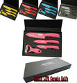 "3"" 4"" 6"" inch Black Red Green Blue Pink Handle Paring Fruit Utility Chef Home Kitchen Ceramic Knives Set + Peeler8510524"