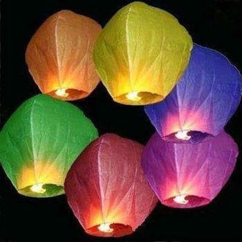 1lot=10pcs  Free Shipping Chineses Lantern Sky Lantern Kongming Lantern Flying Wishing Lamp Wedding Party Paper Lights