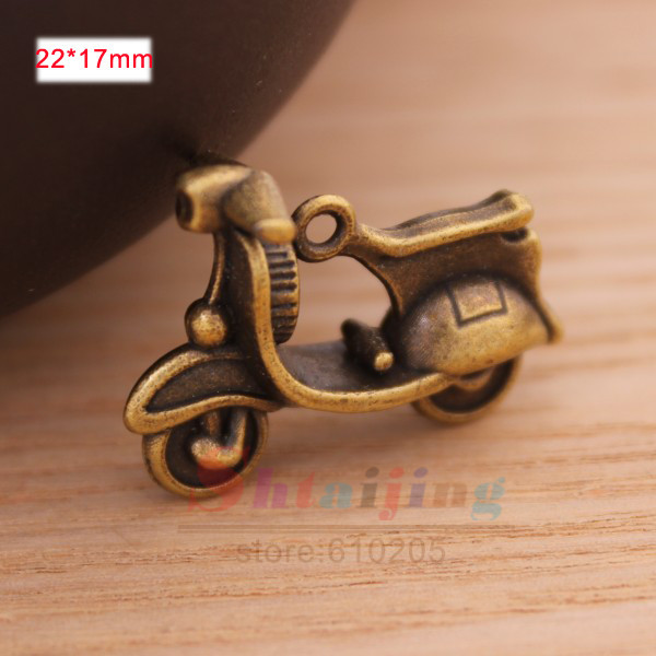 New Arrival Wholesales Antique Bronze Vintage Charms motorcycle Model Charms Jewellery findings and components(China (Mainland))