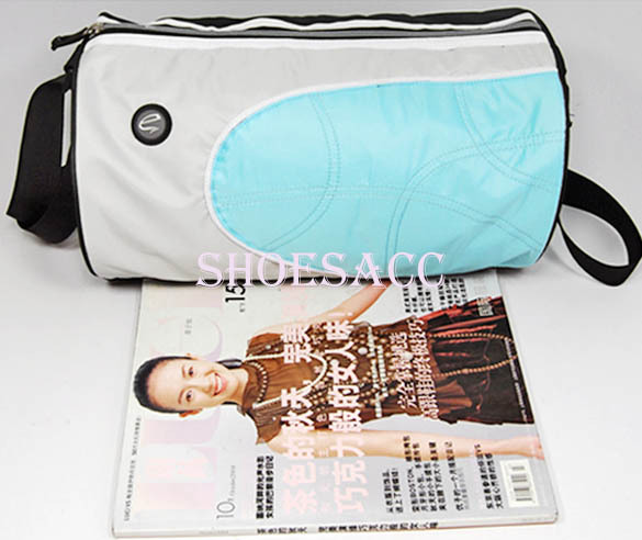 NEW! LIGHT BLUE LIGHT WEIGHT BARREL BAG GYM SPORTS DUFFLE BAG CROSS-BODY SHOULDER TRAVEL LUGGAGE BAG S12375(China (Mainland))