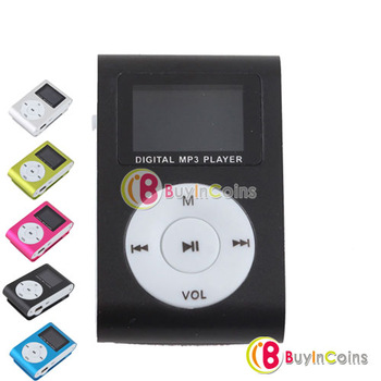 Metal Clip Digital MP3 Player LCD Screen for 2/4/8/16GB TF Card 5 Color #29872