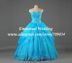 Fantastic Sweetheart Ball Gowns Beaded Lace Crystal Blue Quinceanera Dress 2013 Pictures Real I1108(China (Mainland))